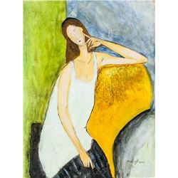 Italian Cubist Oil on Canvas Signed Modigliani