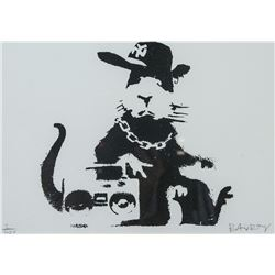 British Pop Art Silkscreen Litho Signed Banksy