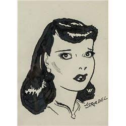 American Pop Art Ink on Paper Signed J. Striebel