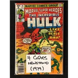 MARVEL SUPER HEROES THE INCREDIBLE HULK NO.84 ( 4 COPIES NEWSTAND)
