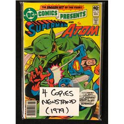 SUPERMAN AND THE ATOM NO.15 (4 COPIES NEWSTAND 1979)