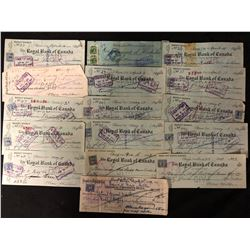 1920'S USED CANADIAN BANK CHEQUES LOT