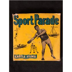 "Castle Films 8mm Complete Edition Film Reel mint in box ""Sport Parade"""