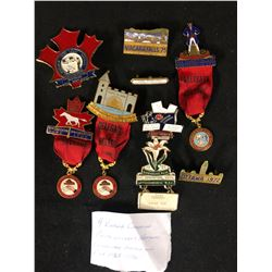 VINTAGE CANADIAN POSTAL WORKERS NATIONAL CONVENTION MEDALS & PINS (1965-1990)