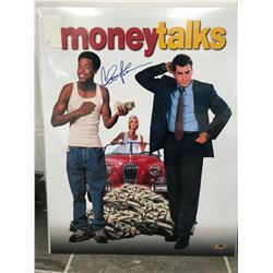 MONEY TALK 16 X 20 POSTER SIGNED BY CHARLIE SHEEN ( MAB COA)