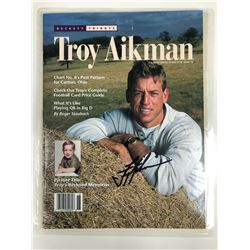 TROY AIKMAN SIGNED BECKETT MAGAZINE WITH COA