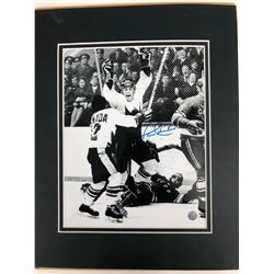 PAUL HENDERSON SIGNED TEAM CANADA 11 X 18 MATTED PHOTO (BOSSA COA)