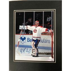 12 X 14 SIGNED PATRICK ROY MATTED PHOTO (BOSSA)