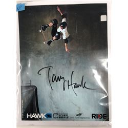 TONY HAWK SIGNED 8 X 10 WITH COA