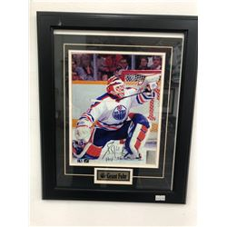 12 X 18 SIGNED GRANT FUHR FRAMED PHOTO (BOSSA COA)