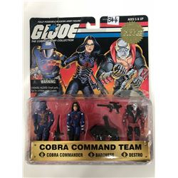 1997 G.I. JOE COBRA COMMAND TEAM- Cobra Commander, Baroness & Destro