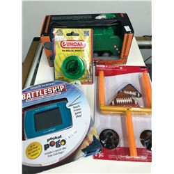 MISC. TOY LOT (BATTLESHIP ELECTRONIC GAME / DUNCAN YO-YO...)