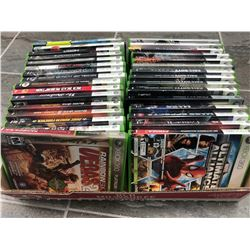 X-BOX 360 VIDEO GAME LOT (30+ GAMES)