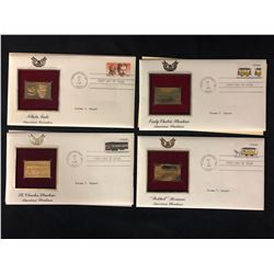 22kt.Gold Replica Stamps First Day Issue Lot