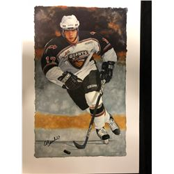 """GILBERT BRULE AUTOGRAPHED 10"""" X 20"""" PRINT BY GLEN GREEN"""