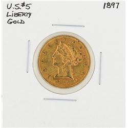 1897 $5 Liberty Head Half Eagle Gold Coin