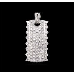 3.22 ctw Diamond Pendant - 18KT White Gold