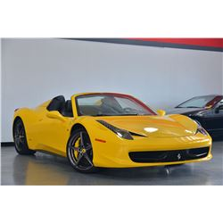 2014 Yellow Ferrari 458 Spider Base Convertible