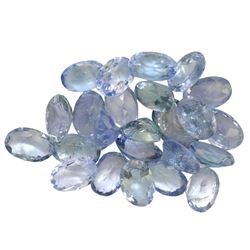 12.54 ctw Oval Mixed Tanzanite Parcel