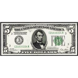1928A $5 Federal Reserve Note Philadelphia