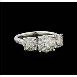 1.54 ctw Diamond Ring - 14KT White Gold