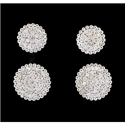 0.75 ctw Diamond Earrings - 14KT White Gold