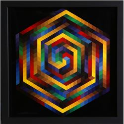 Victor Vasarely, untitled 7 from Progressions, Print on Glossy stock