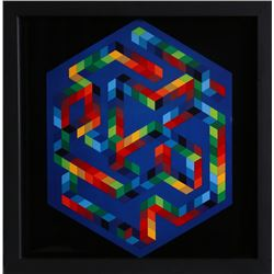 Victor Vasarely, untitled 5 from Progressions, Print on Glossy stock