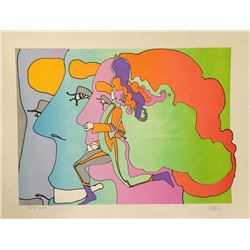 Peter Max, Three Lords and a Runner, Lithograph