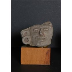 Pre-Columbian Artifact, Fragment, Zapotec - 2, Carved Stone Sculpture
