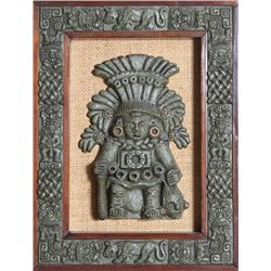 Mayan God with Head, Resin Sculpture by Industrias Calli
