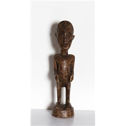 Nude Male Figure Sculpture VI, Hand-carved African Wood Sculpture