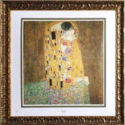 Gustav Klimt, The Kiss, Lithograph Poster by the Collector's Guild