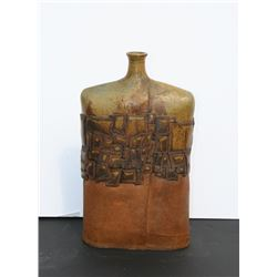 Modern Jug with Abstract Design, Ceramic Sculpture