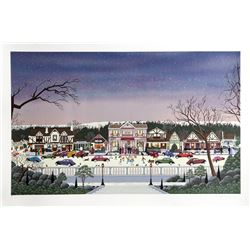 Nicky Watanabe, Christmas in Cambria, Serigraph
