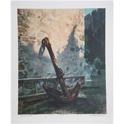 Rodell Johnson, Ancient Anchor, LIthograph
