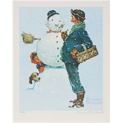 Norman Rockwell, Snowman, Lithograph