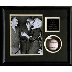 Tie the Knot (Joe DiMaggio and Marilyn Monroe), Photo and Baseball autographed by Joe DiMaggio