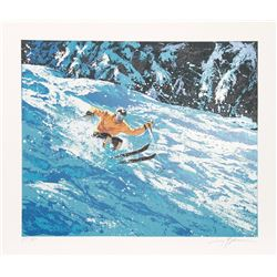 Harry Schaare, Skiing II, Serigraph