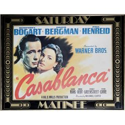 Casablanca (Saturday Matinee), Movie Poster
