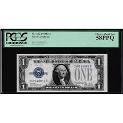 1928B $1 Funnyback Silver Certificate Note Fr.1602 PCGS Choice About New 58PPQ