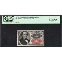 1874 25 Cent Fractional Currency Note Fr.1309 PCGS Choice About New 55PPQ