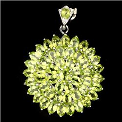 Natural Top Rich Green Peridot 82.12 Ct Pendant