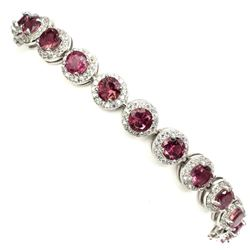 Natural Top Rich Pink Tourmaline Bracelet