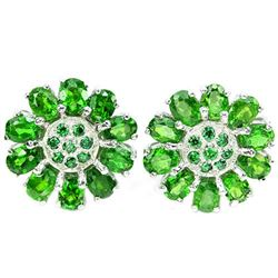 NATURAL GREEN CHROME DIOPSIDE Earrings