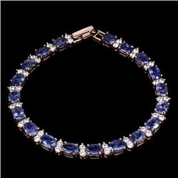 Natural Top Blue Violet Tanzanite 7x5 MM Bracelet
