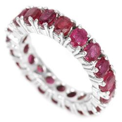 GENUINE BLOOD RED RUBY Erernity Band