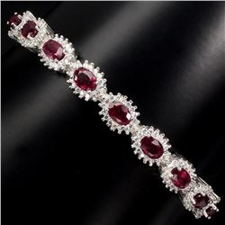Genuine Top Blood Red Ruby Bangle