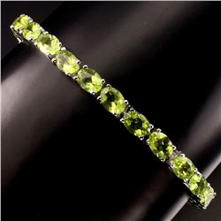 Natural Top Rich Green Peridot 69 Carats Bracelet