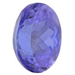 BEAUTIFUL HIGH END 2.73 CT DOUBLE CERTIFIED TANZANITE.